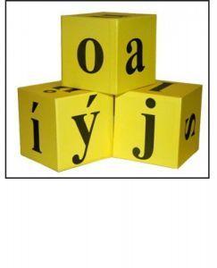 Demonstrační kostka s písmeny 3 ks