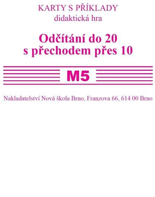 Sada kartiček M5 (odčítání do 20 s přechodem přes 10)