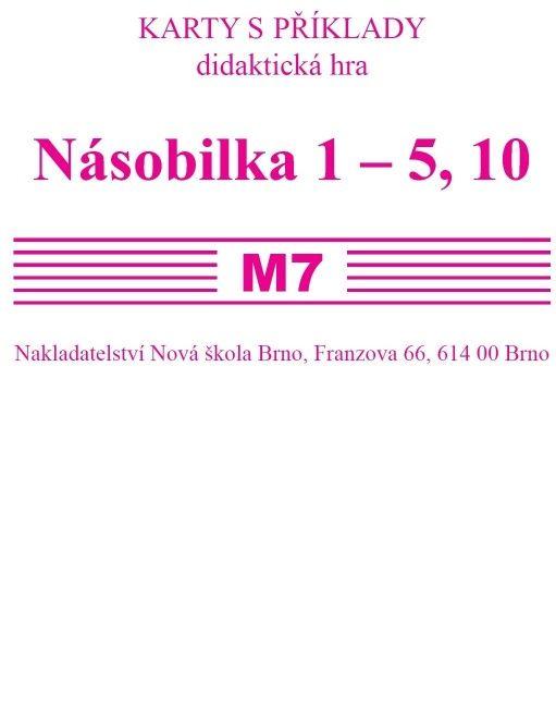 Sada kartiček M7 (násobilka 1-5, 10)