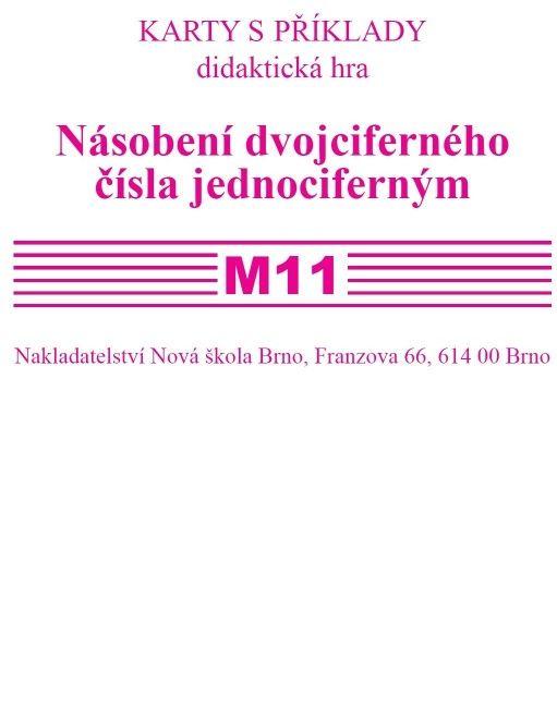 Sada kartiček k procvičování M 11 - nás.dvojcif. čísla jednociferným