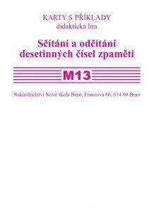 Sada kartiček M 13 - sčítání a odčítání desetinných čísel zpaměti