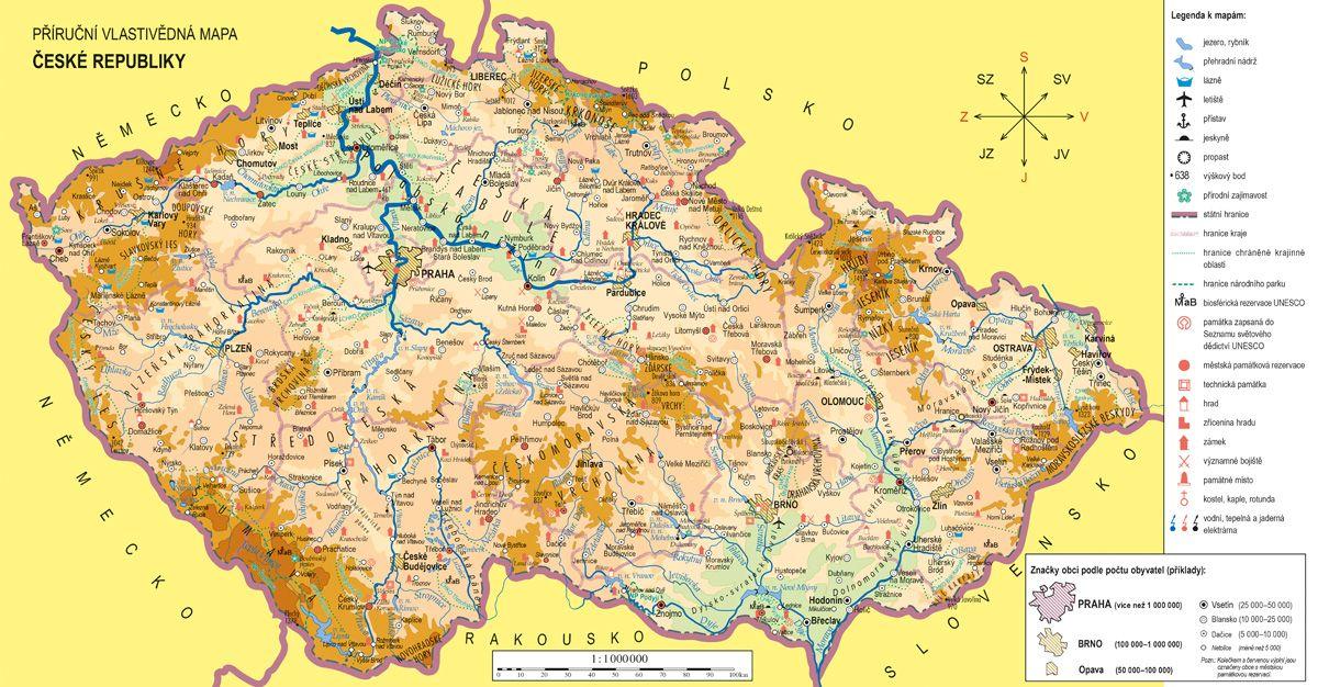 Vlastivěda 5. r. - náhradní mapa k učebnici