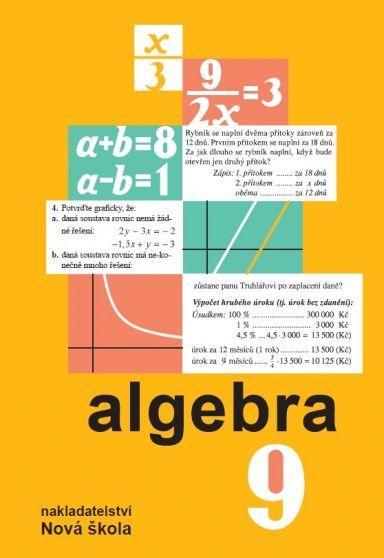 Algebra 9. r. - učebnice