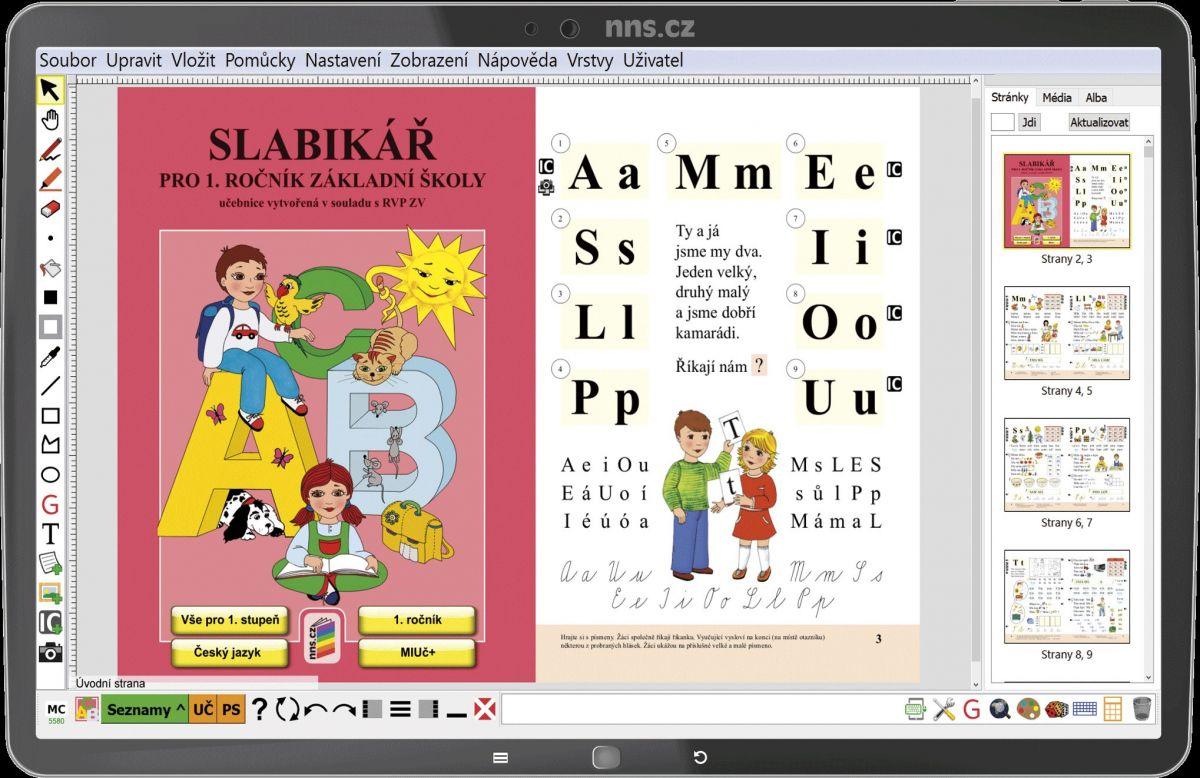 MIUč Živá abeceda, Slabikář, Písanky 1 - 4 školní multilicence na 1 šk. rok