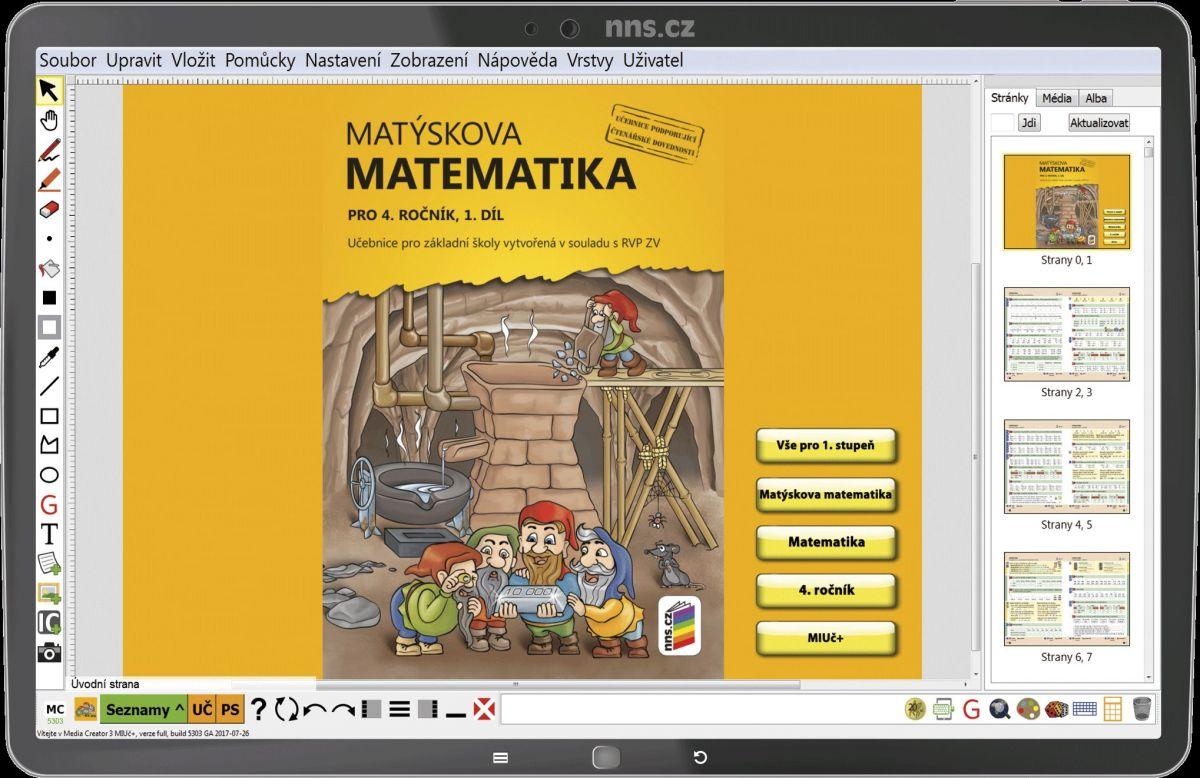 MIUČ Matýskova matematika 4. r. 1., 2. díl a Geometrie - školní multilicence na 1 školní rok