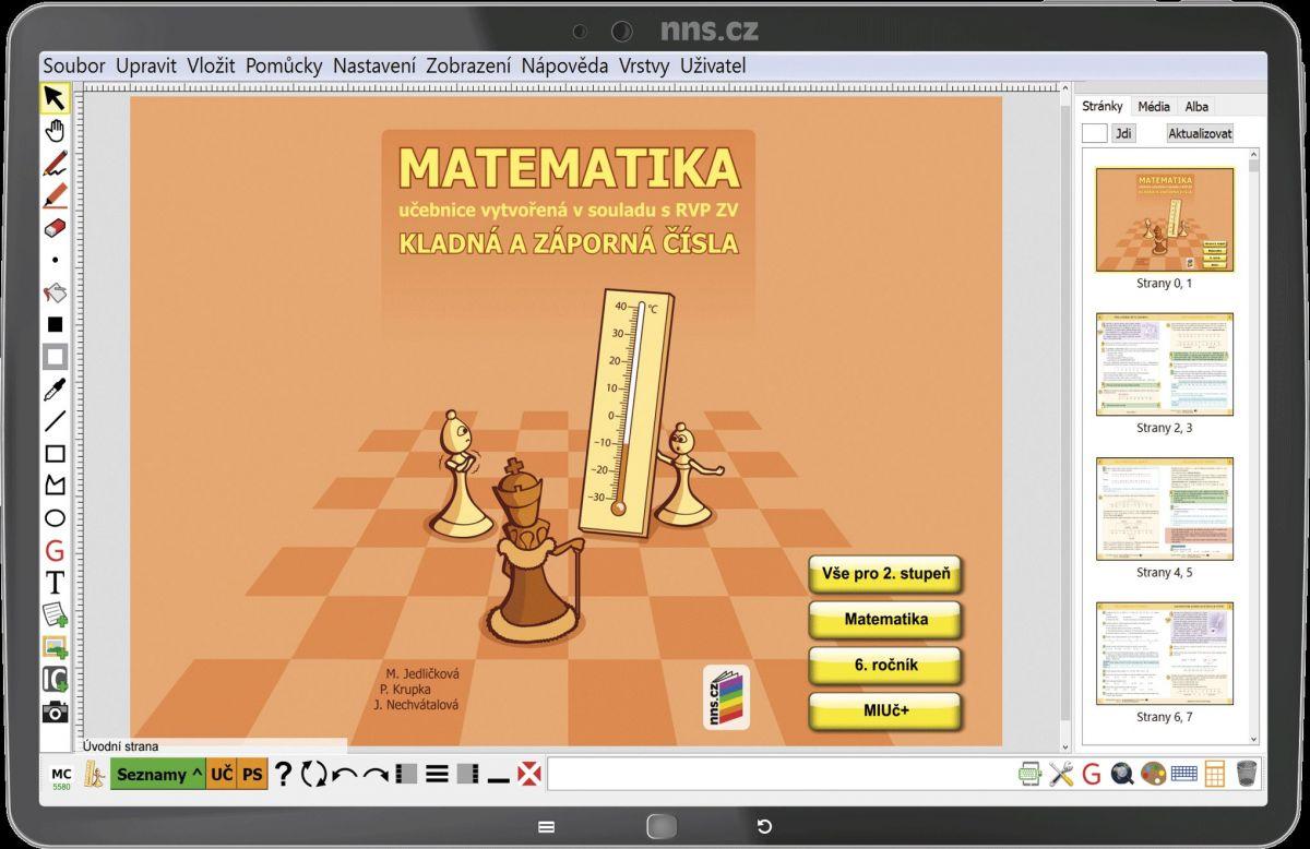 MIUč Matematika - Kladná a záporná čísla - šk. multilicence na 1 šk. rok