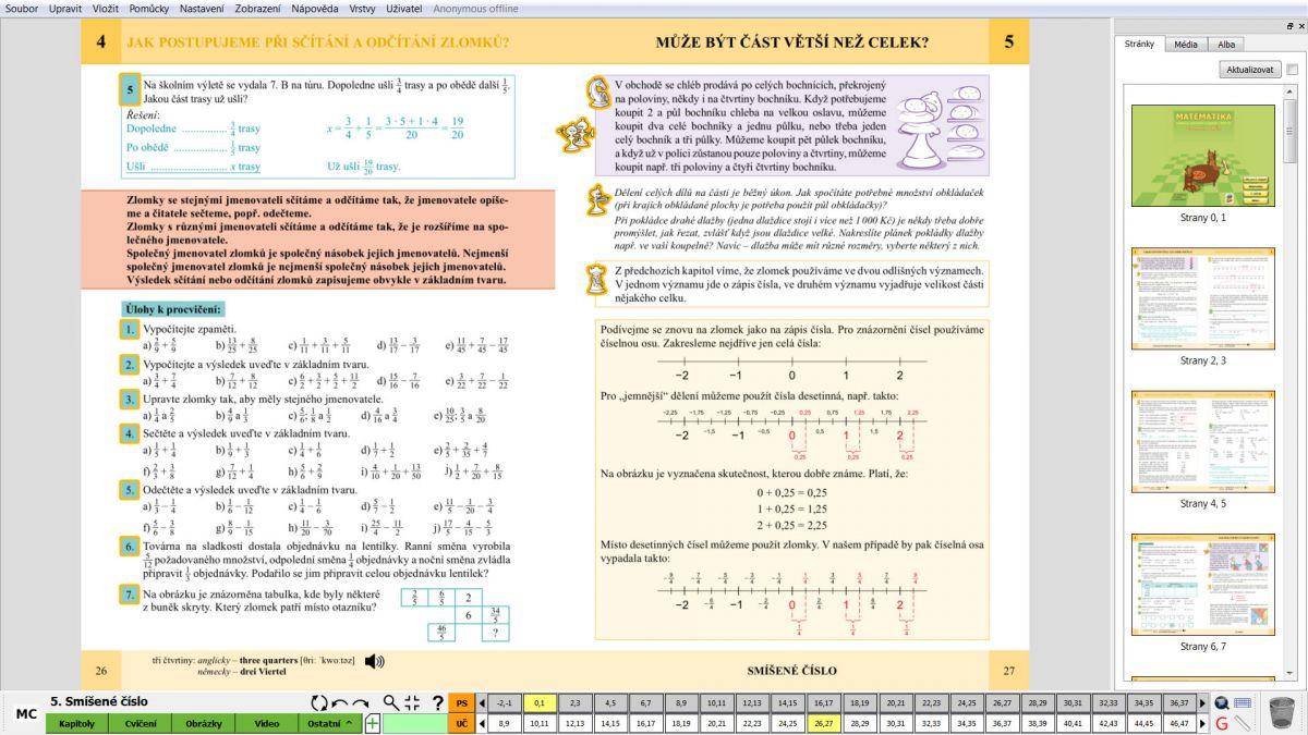 MIUč Matematika - Zlomky, poměr - časově neomezená šk. multilicence