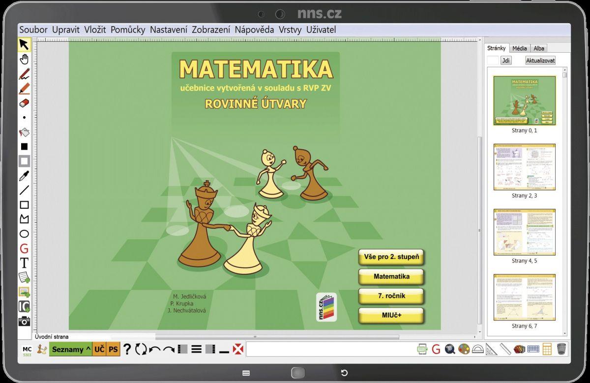 MIUč Matematika - Rovinné útvary - školní multilicence na 1 šk. rok
