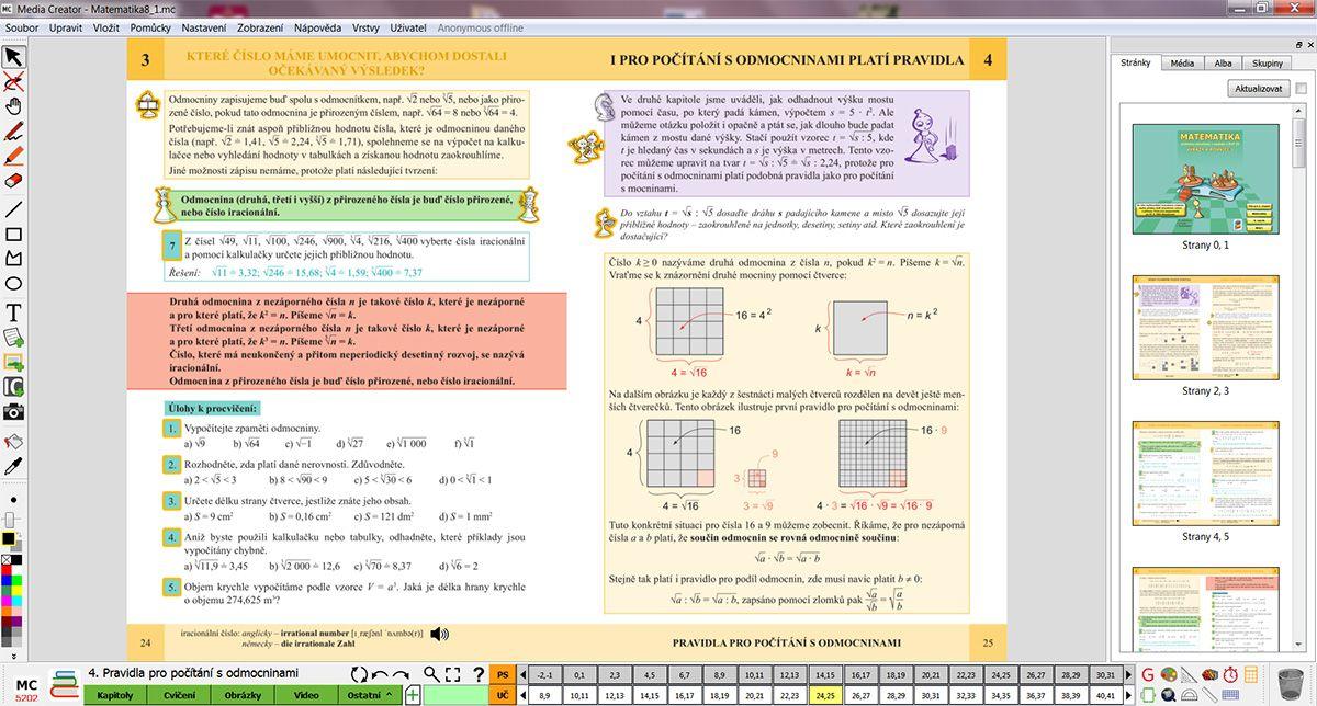 MIUč Matematika - Výrazy a rovnice 1 - časově neomezená šk. multilicence