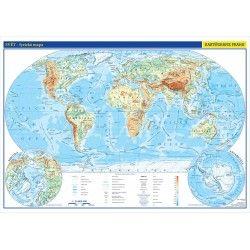 Svět - fyzická mapa 1 : 26 000 000