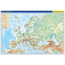Evropa - fyzická mapa 1:5 000 000